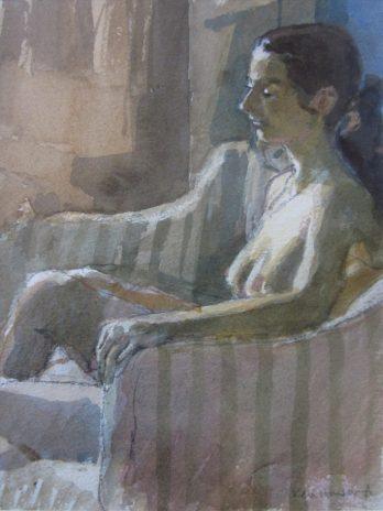 Nude on sofa
